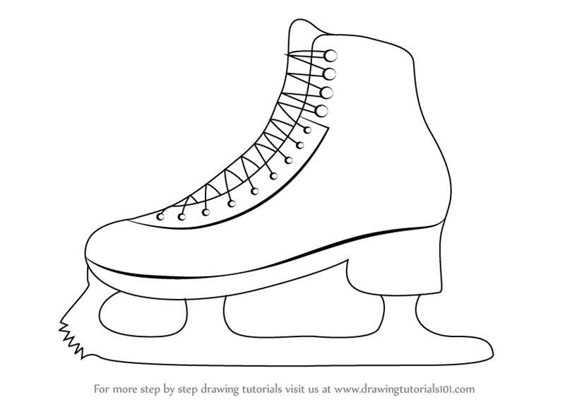 800x566 Learn How To Draw Ice Skates (Other Sports) Step By Step Drawing
