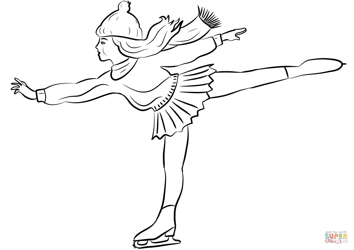 1200x848 Figure Skater Girl Coloring Page Free Printable Coloring Pages