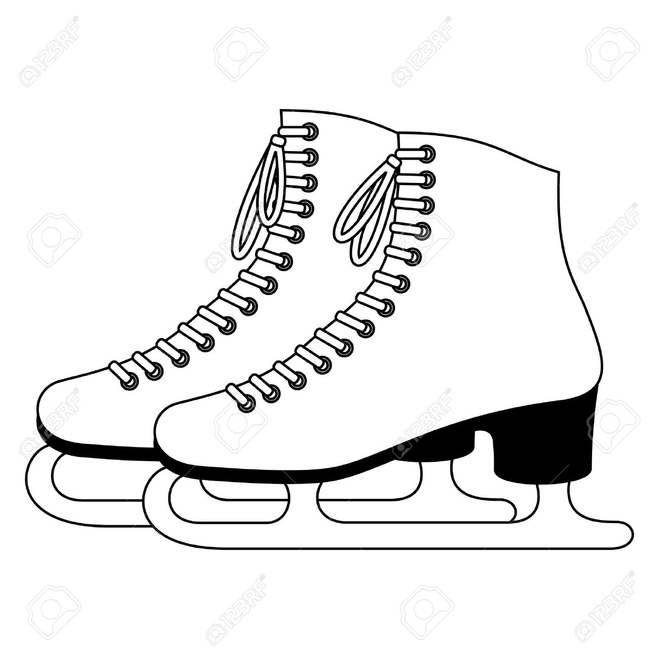 figure skates drawing at getdrawings com free for personal use rh getdrawings com free clip art ice skating pictures