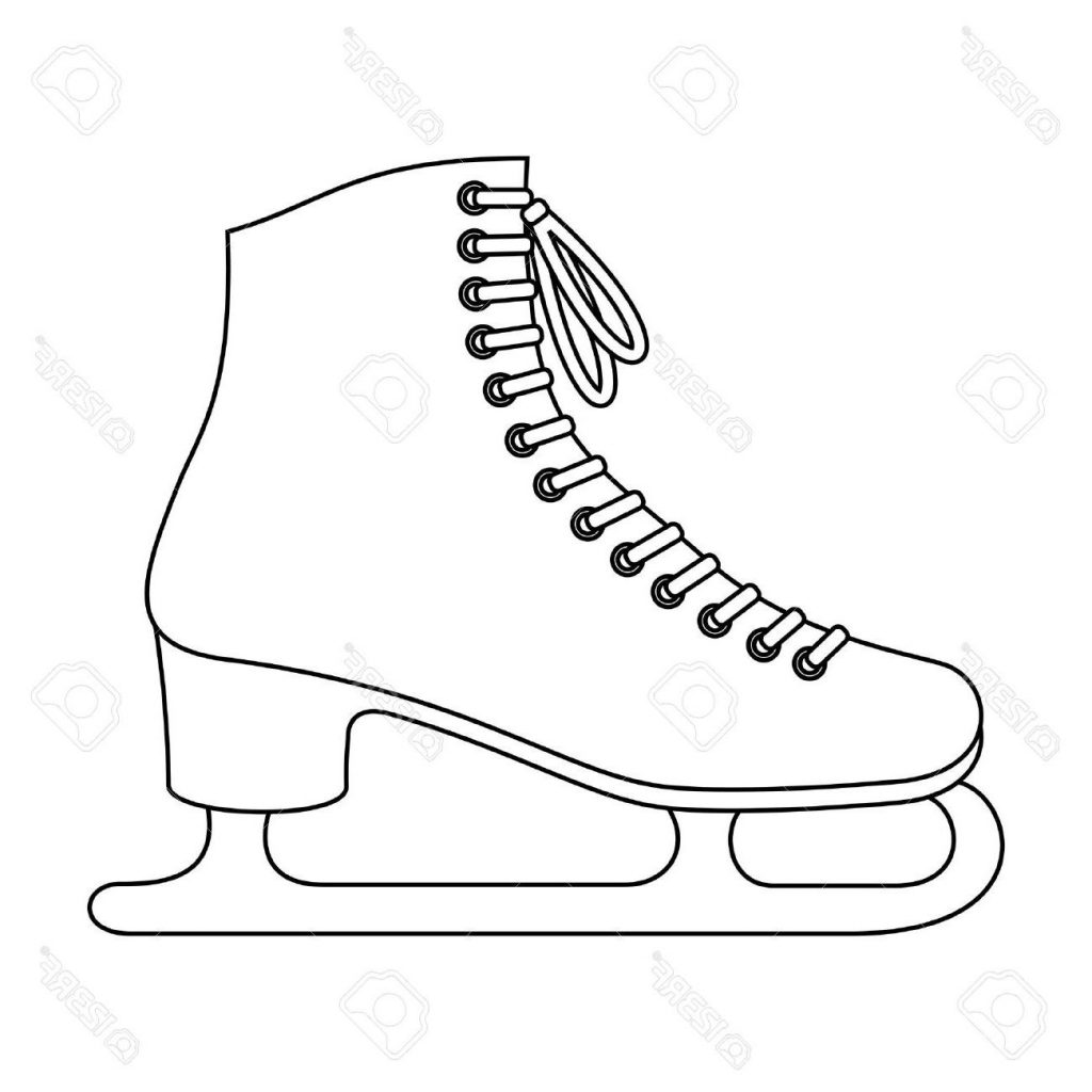 figure skates drawing at getdrawings com free for personal use rh getdrawings com Ice Skate Clip Art Outline ice hockey skates clipart