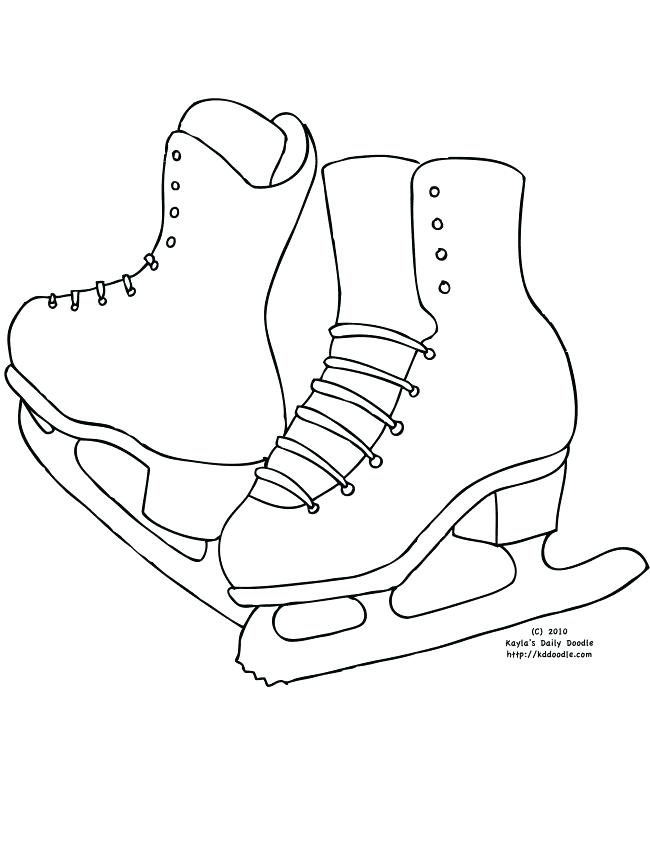 650x841 Ice Skating Coloring Pages Printable Page