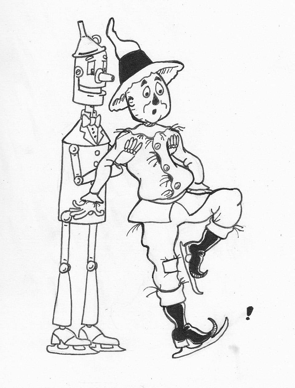 959x1259 SP Maldonado39s Oz Art Ice Skating With The Scarecrow And