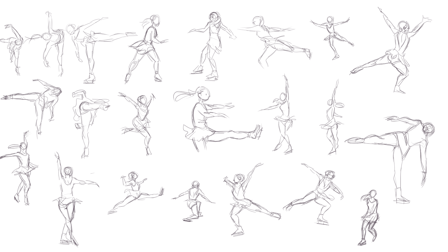 1506x849 Dancer And Figure Skater Gestures Figurative Illustrations