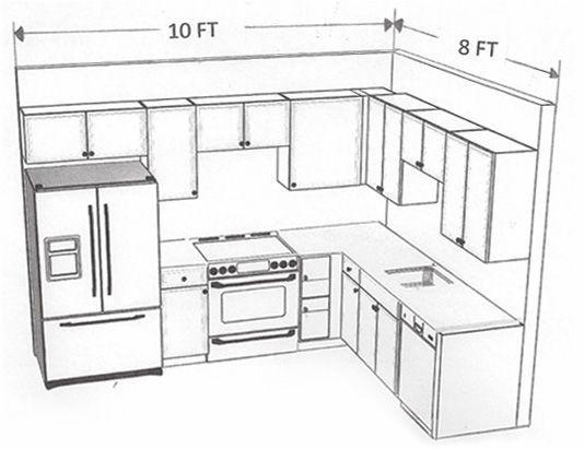 534x411 10 X 8 Kitchen Layout