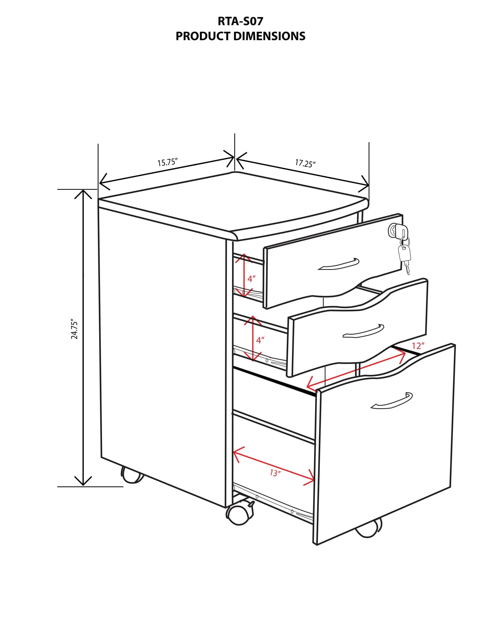 1700x2200 Rolling Storage And File Cabinet
