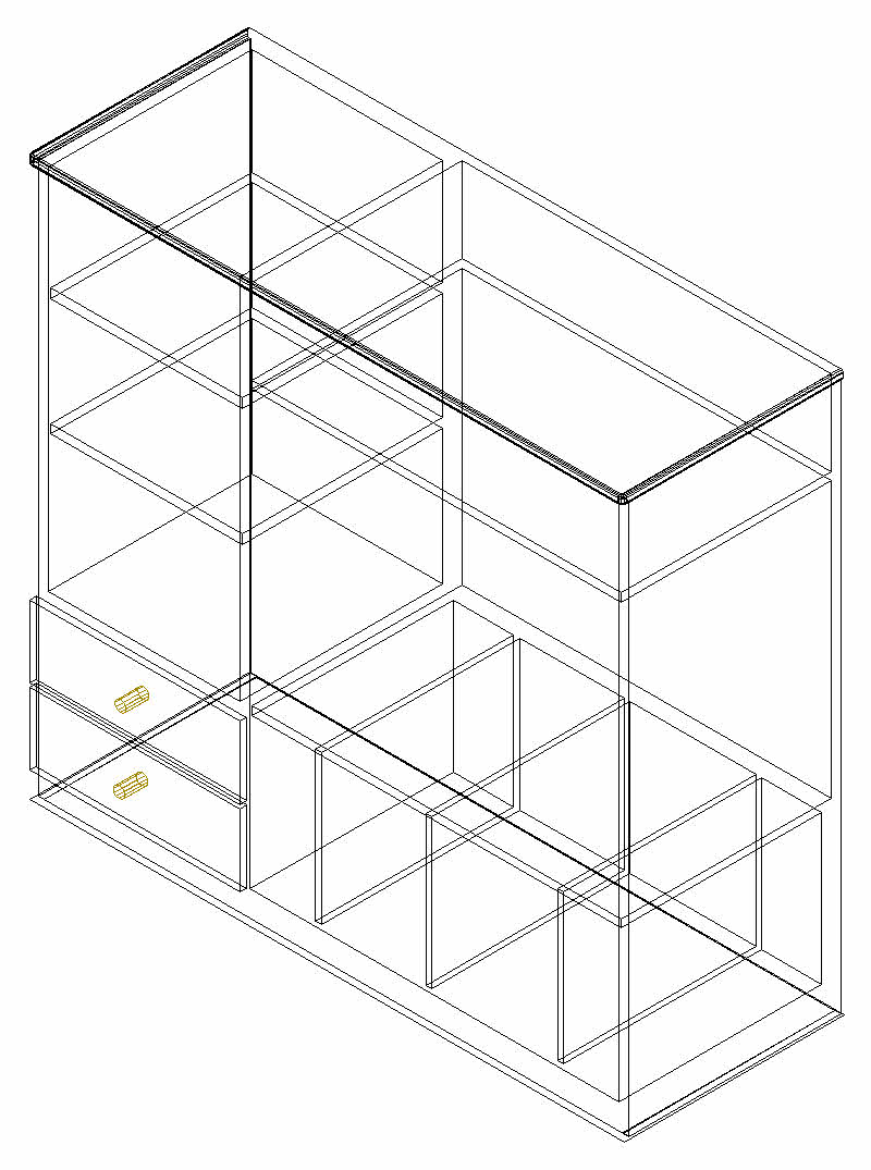 800x1075 A Small File Cabinet 3d Drawing, Autocad Drawing, Autocad Dwg