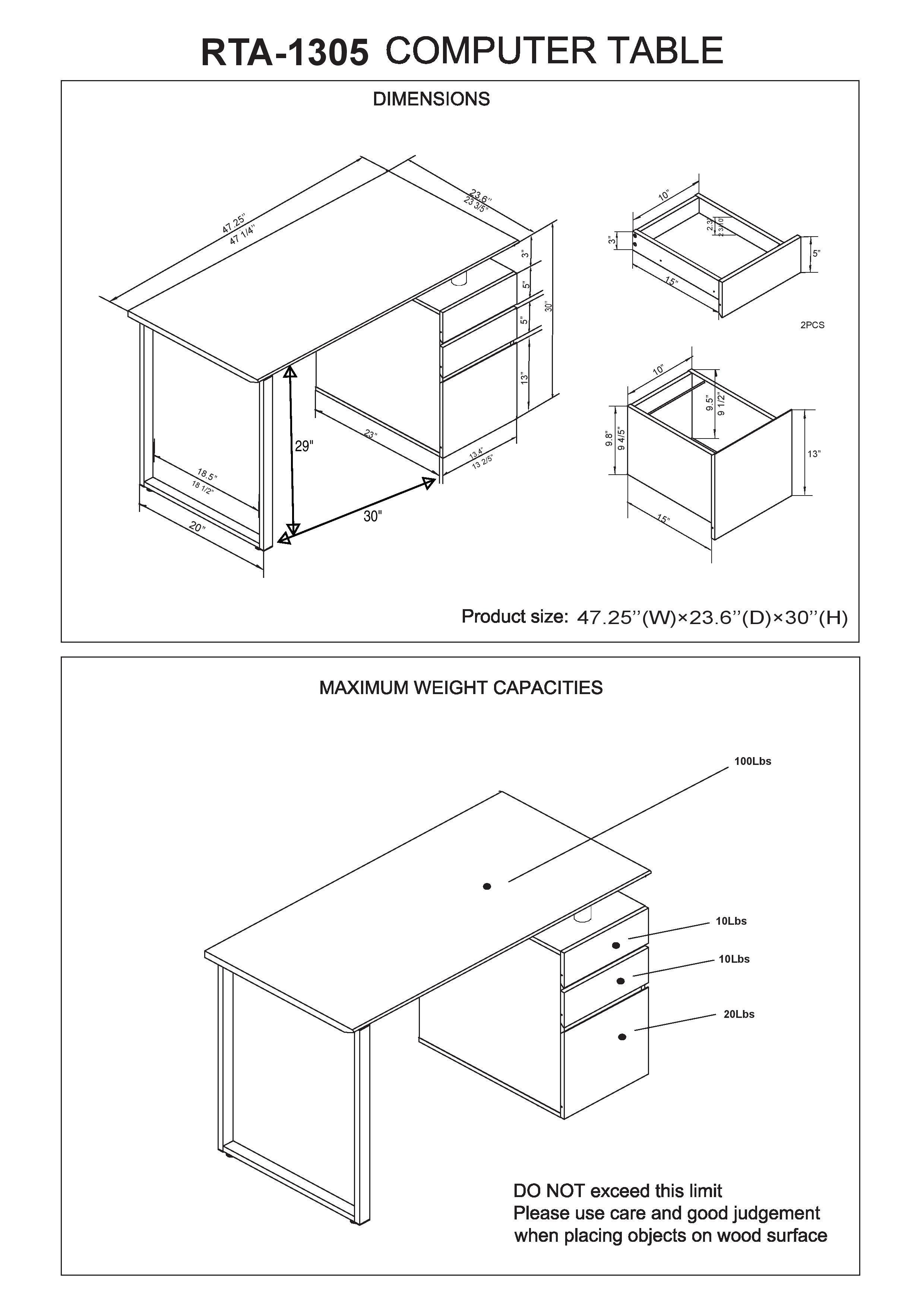 2480x3508 Techni Mobili Computer Desk With Storage And File Cabinet