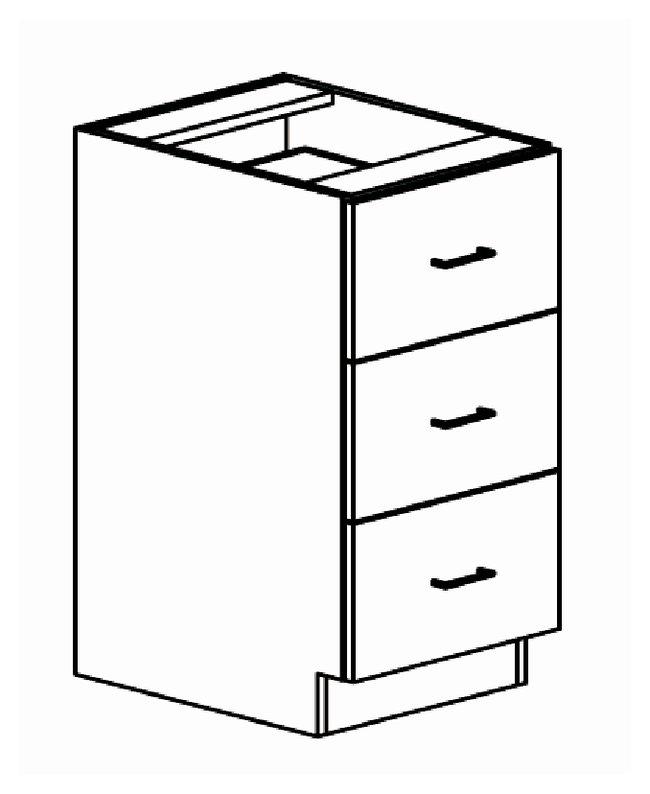 650x794 Brightline Casework Base Three Drawer Cabinet Base Three Drawer