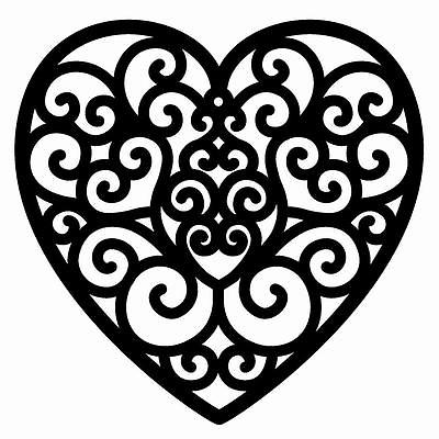 filigree heart drawing at getdrawings com free for personal use