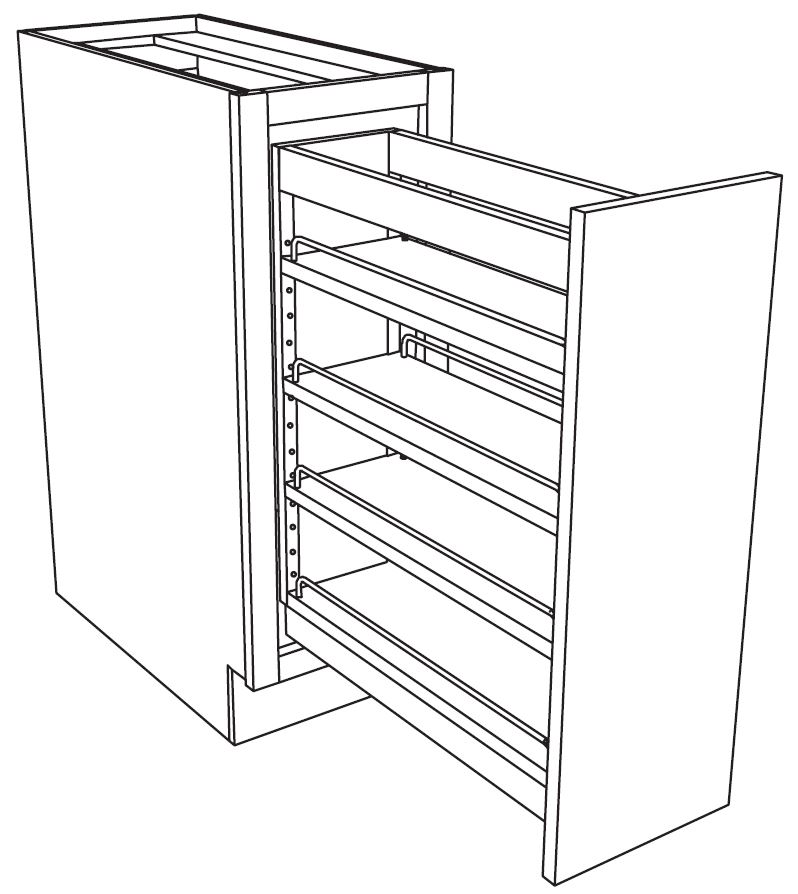 798x894 Soft Close Base With Mini Pantry Kitchen Extras