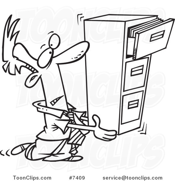 581x600 Cartoon Black and White Line Drawing of a Business Man Carrying a  sc 1 st  GetDrawings.com & Filing Cabinet Drawing at GetDrawings.com | Free for personal use ...