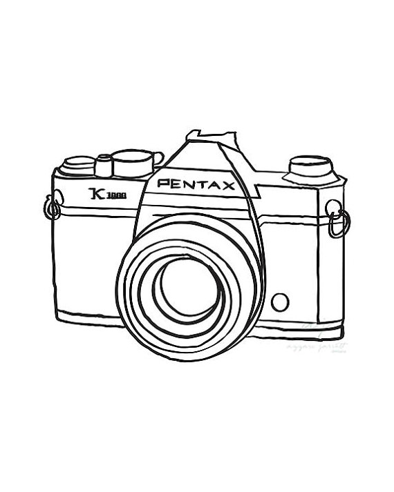 photograph about Camera Printable called Motion picture Digital camera Drawing at  No cost for particular person