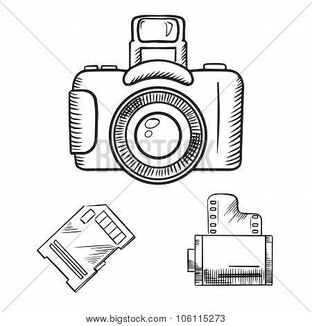 Film Camera Drawing At Getdrawings Com