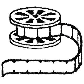 350x350 Film Reel Embroidery Designs, Machine Embroidery Designs