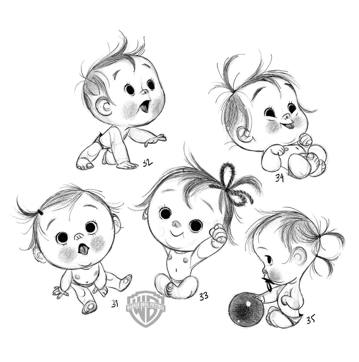 1200x1209 Simply Adorable Anette Marnat For Storks Movie Sketch