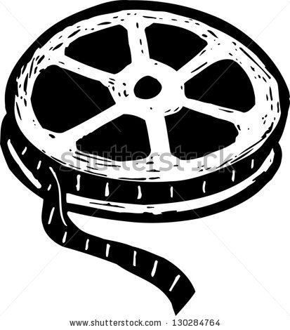413x470 Reel Clipart Black And White