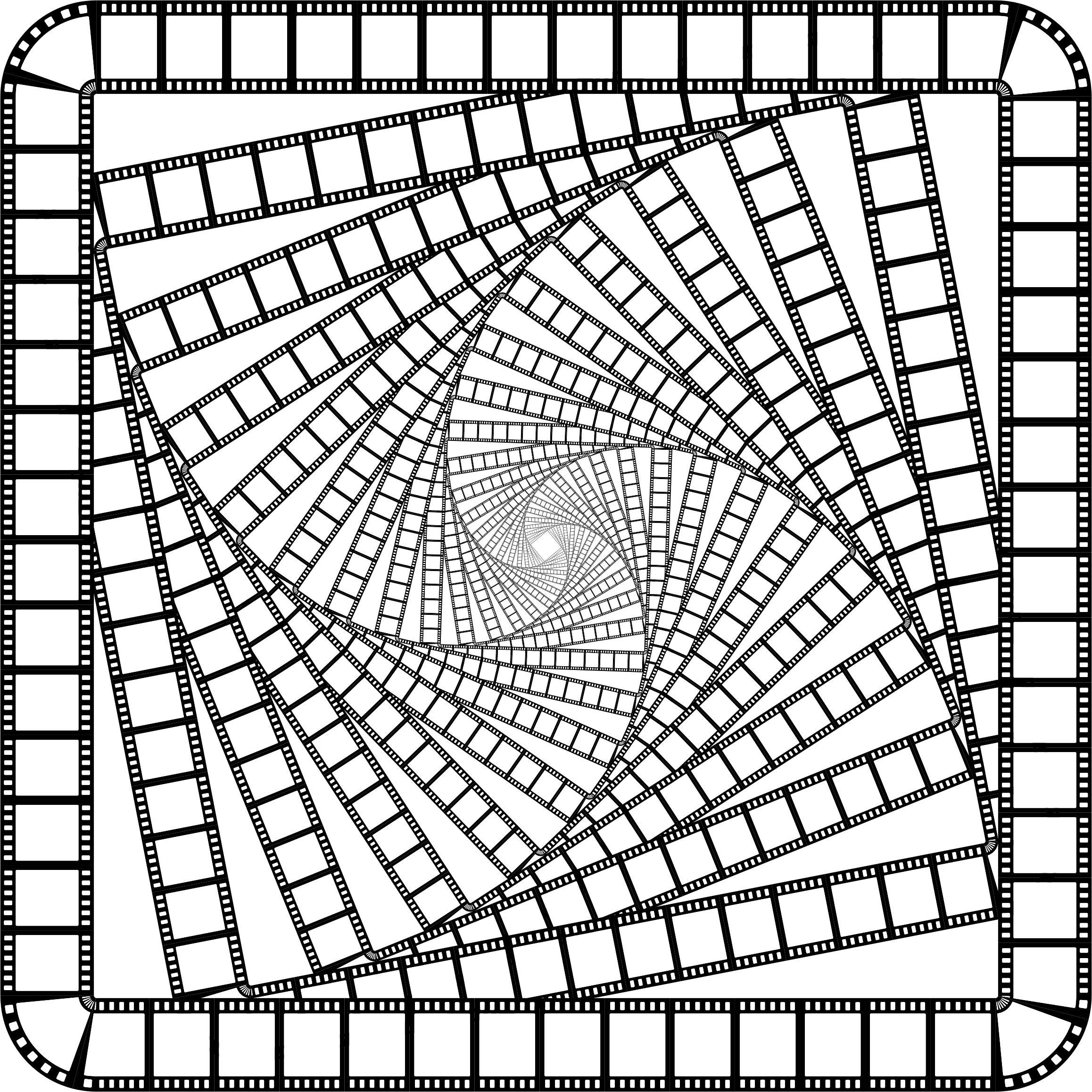 2316x2316 Film Strip Square Frame Vortex Icons Png