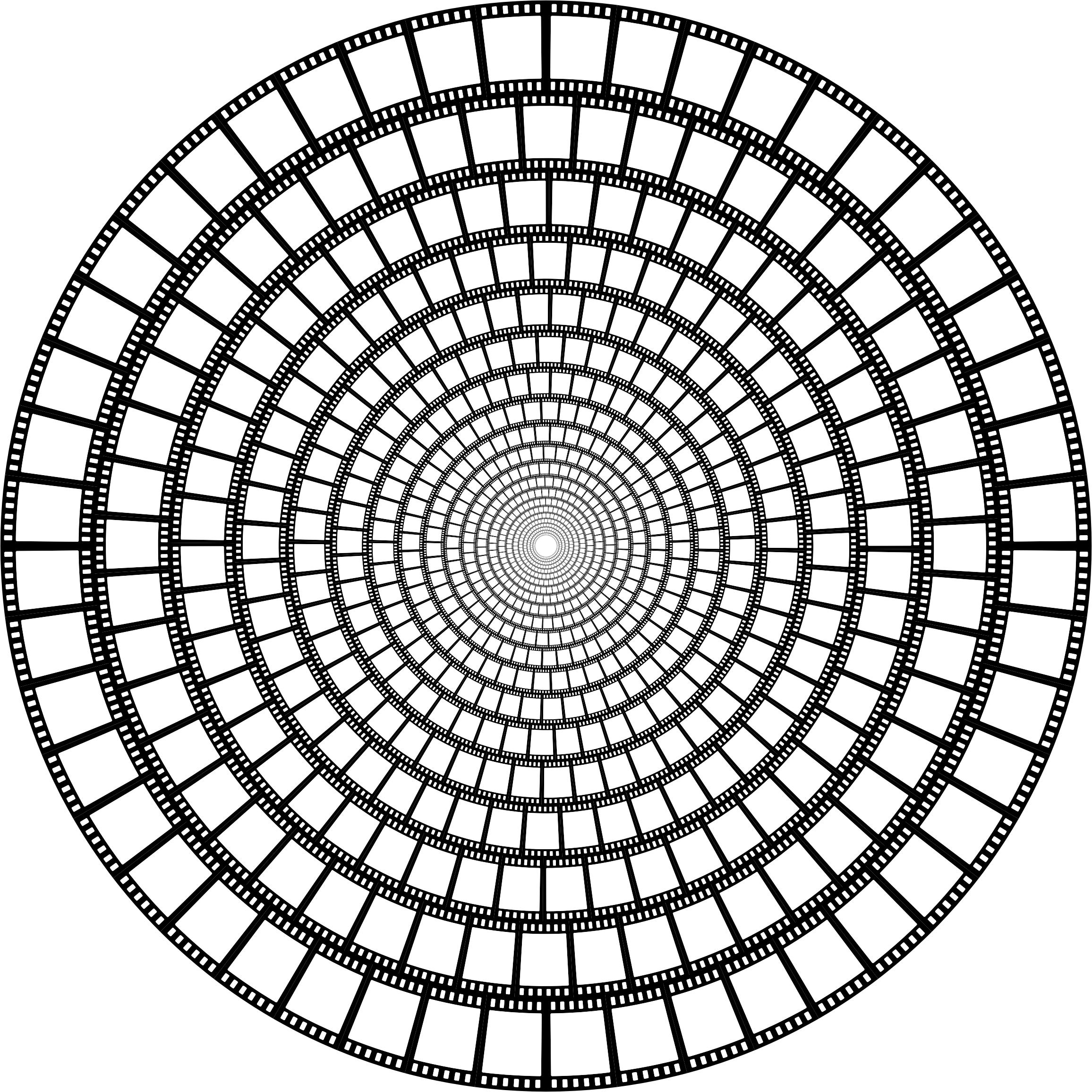 2312x2312 Film Strip Vortex Icons Png