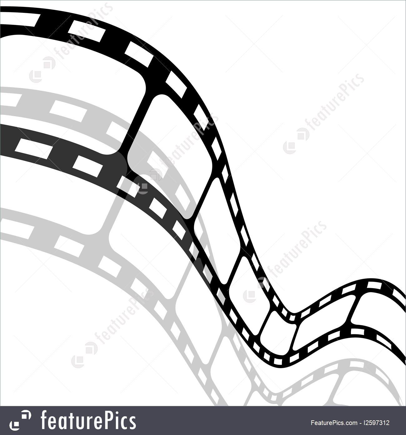 1300x1392 Blank Film Strip Illustration