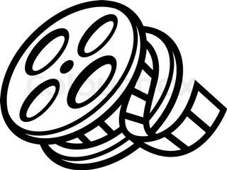 320x240 Movie Theater Cinema Film Reel Unspooling Stock Vector Colourbox