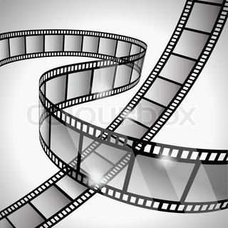 320x320 Vector Film Strip With Empty Frames Stock Vector Colourbox