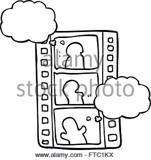 303x320 Freehand Drawn Cartoon Film Strip Stock Vector Art Amp Illustration