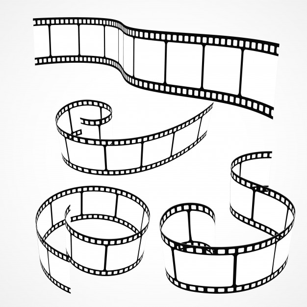 626x626 Collection Of 3d Film Strips Vector Free Download