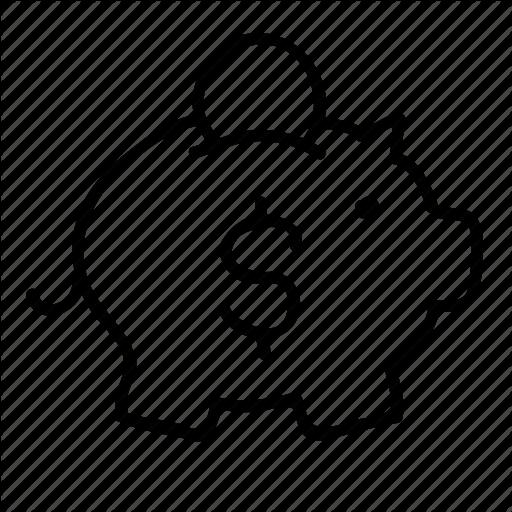 512x512 Banking, Drawn, Finance, Financial, Money, Piggy Bank, Sketch Icon