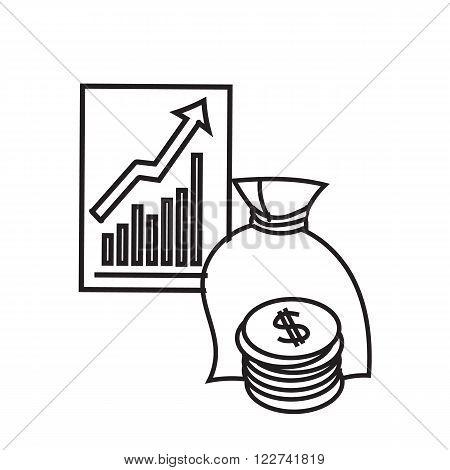 450x470 Black White Illustration Finance. Vector Amp Photo Bigstock