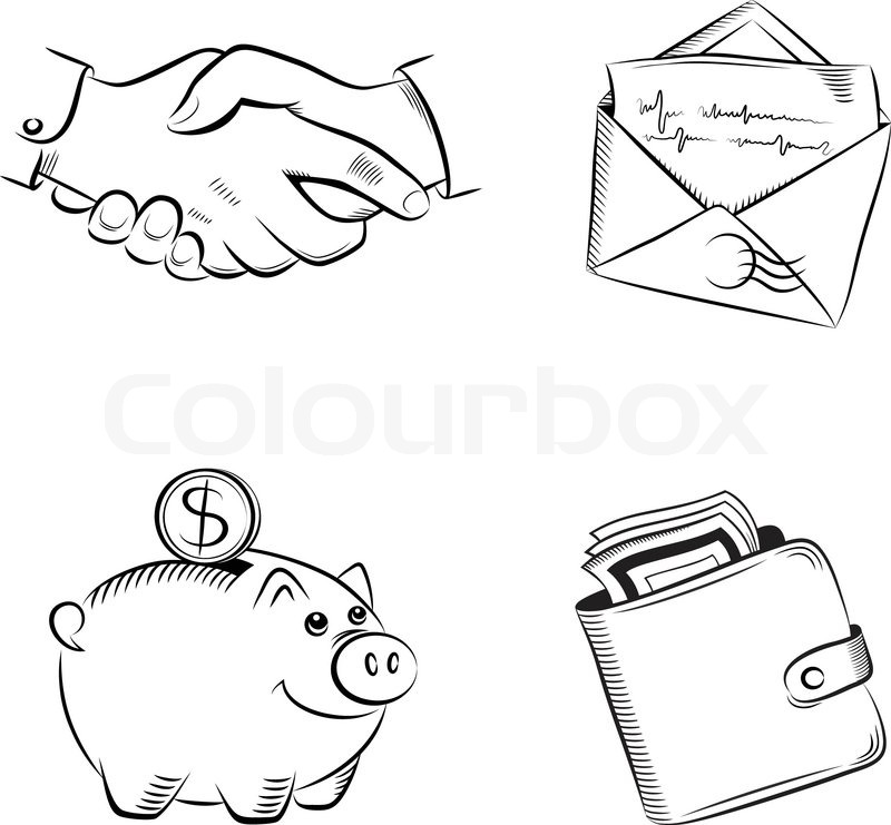 800x741 Business And Finance Vector Set Stock Vector Colourbox