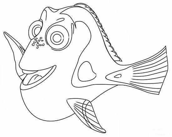 550x437 Finding Nemo Dory Drawing Wallpaper