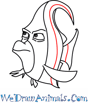 300x350 How To Draw Gill From Finding Nemo