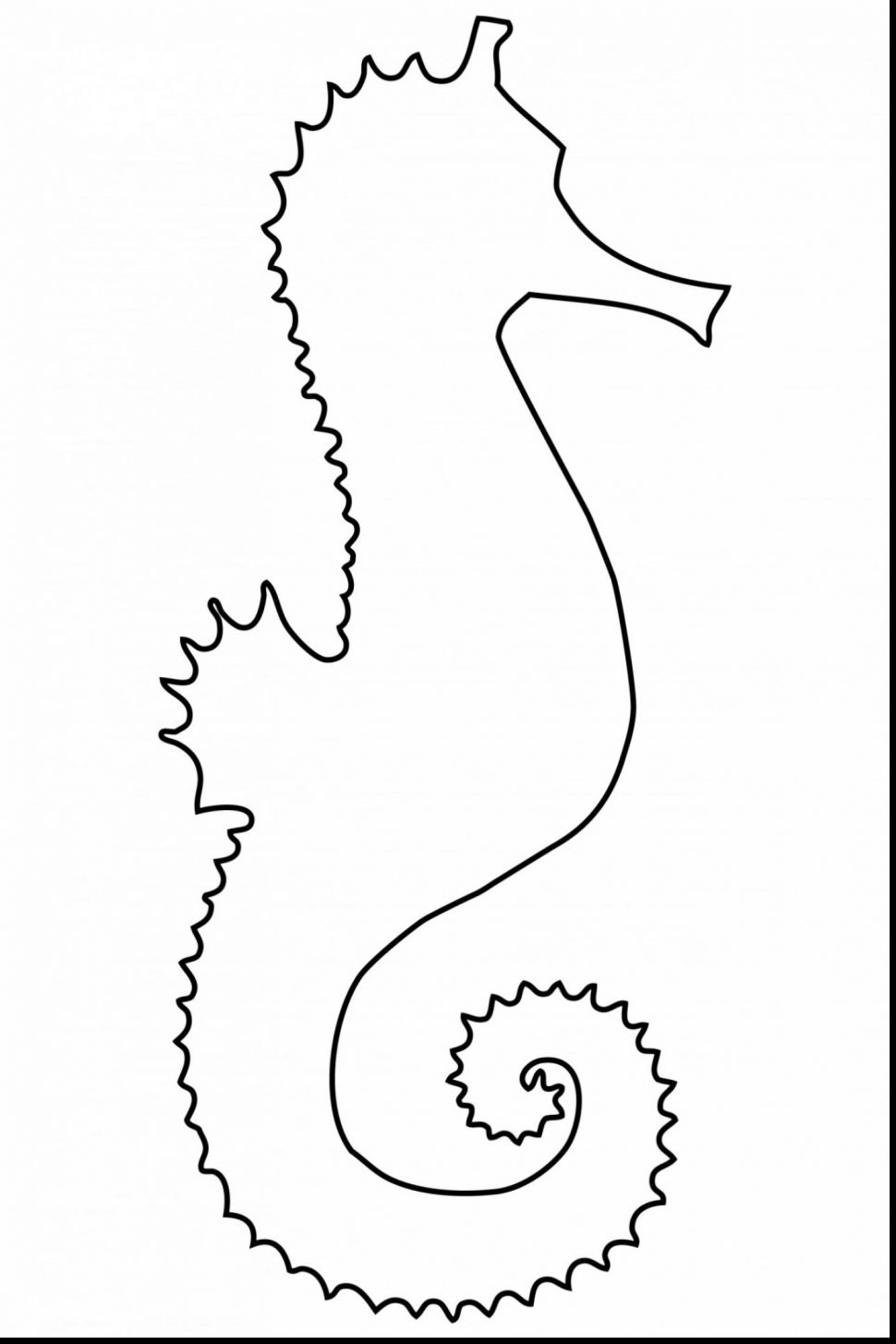 970x1455 Coloring Finding Nemo Coloring Book Marvelous Seahorse Drawing