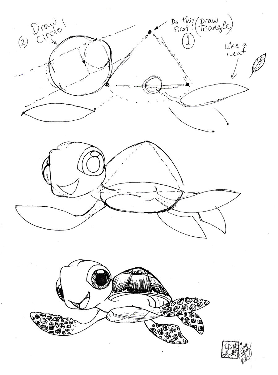 900x1212 Sea Turtle Drawing Tutorial Draw Squirt The Sea Turtle