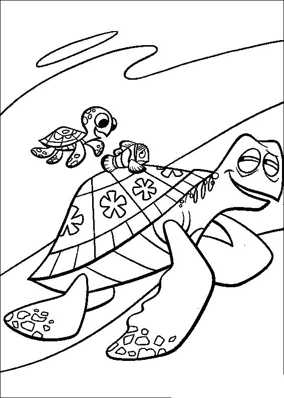 567x794 Finding Nemo Coloring Page Finding Crush And Squirt A Baby