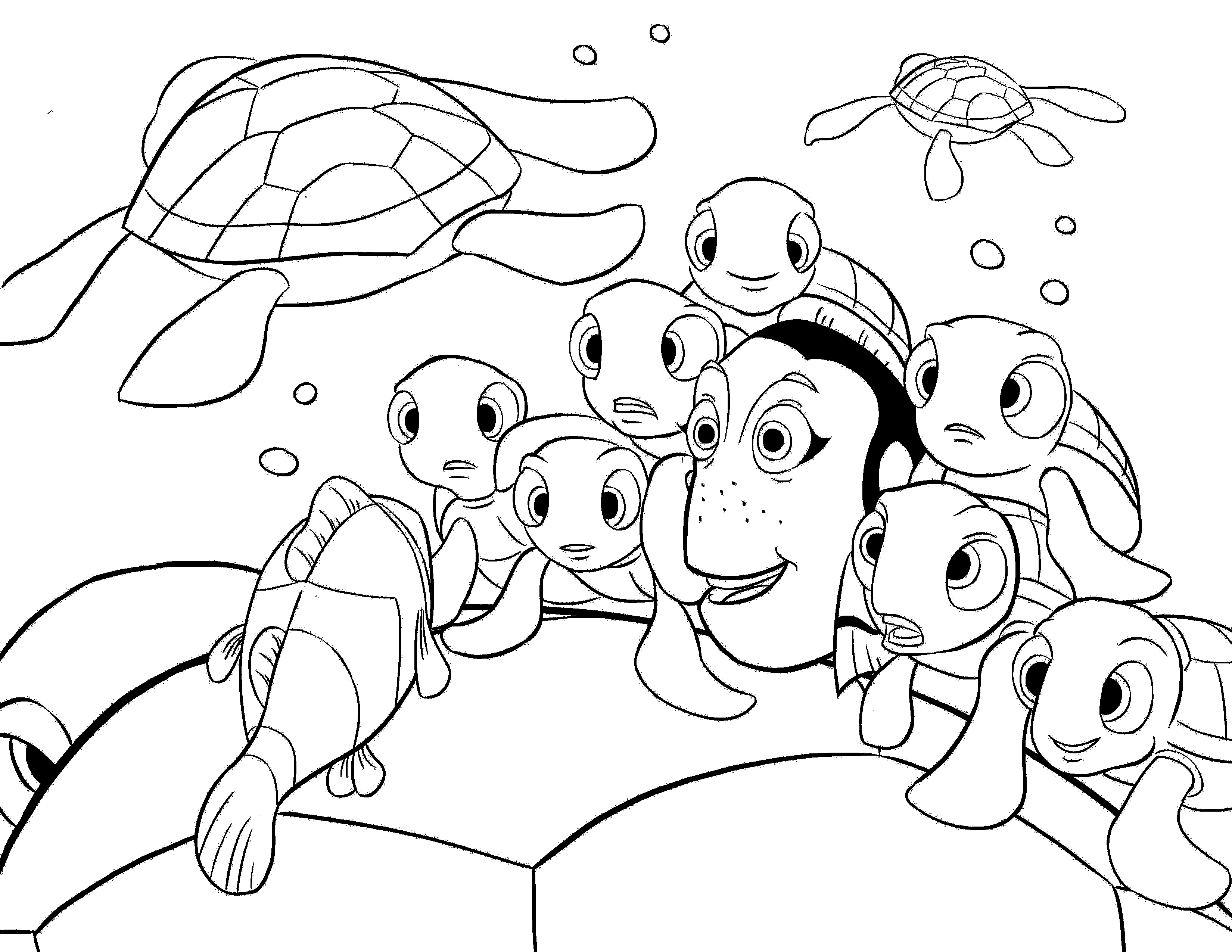 3300x2550 Nemo Coloring Page Printable Of Finding General Sheet For Kids