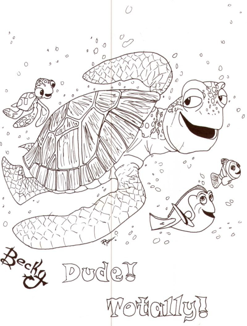 worksheet Finding Nemo Worksheet finding nemo squirt drawing at getdrawings com free for personal 800x1056 crush and by minime2210 on deviantart