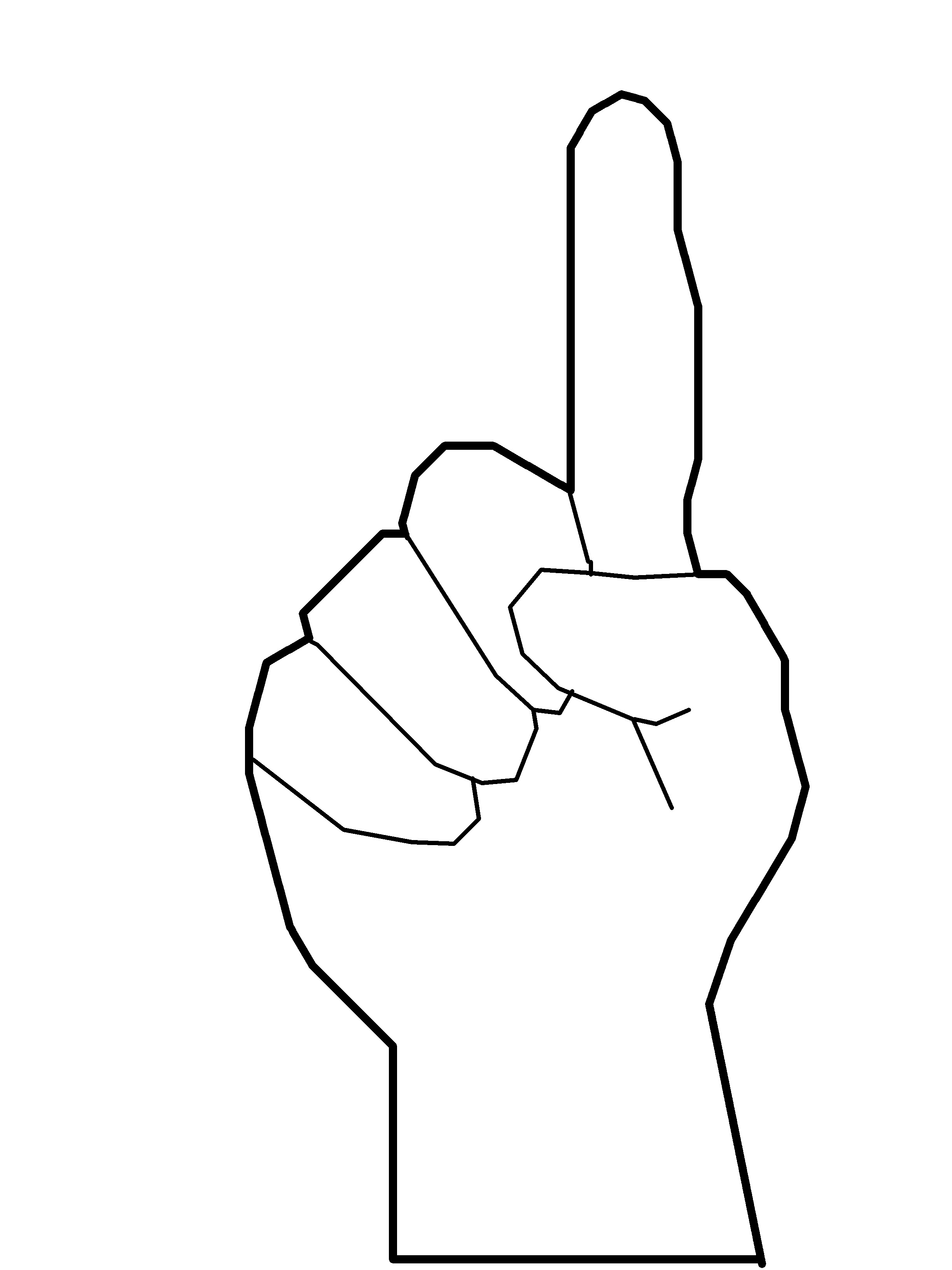 Finger Pointing Drawing