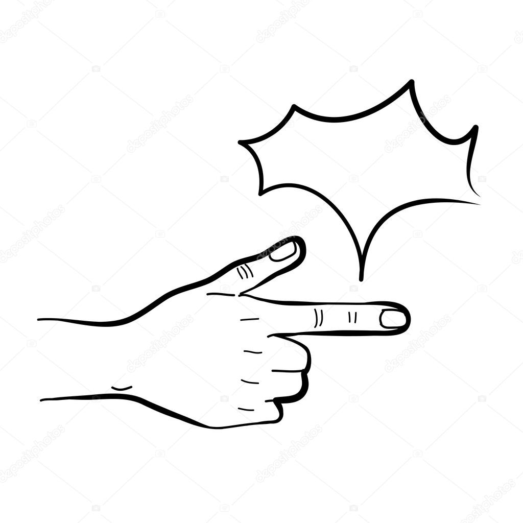1024x1024 Hand Pointing Stock Vector Atthameeni
