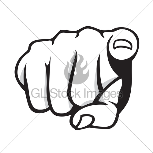 500x500 Pointing Finger Gl Stock Images