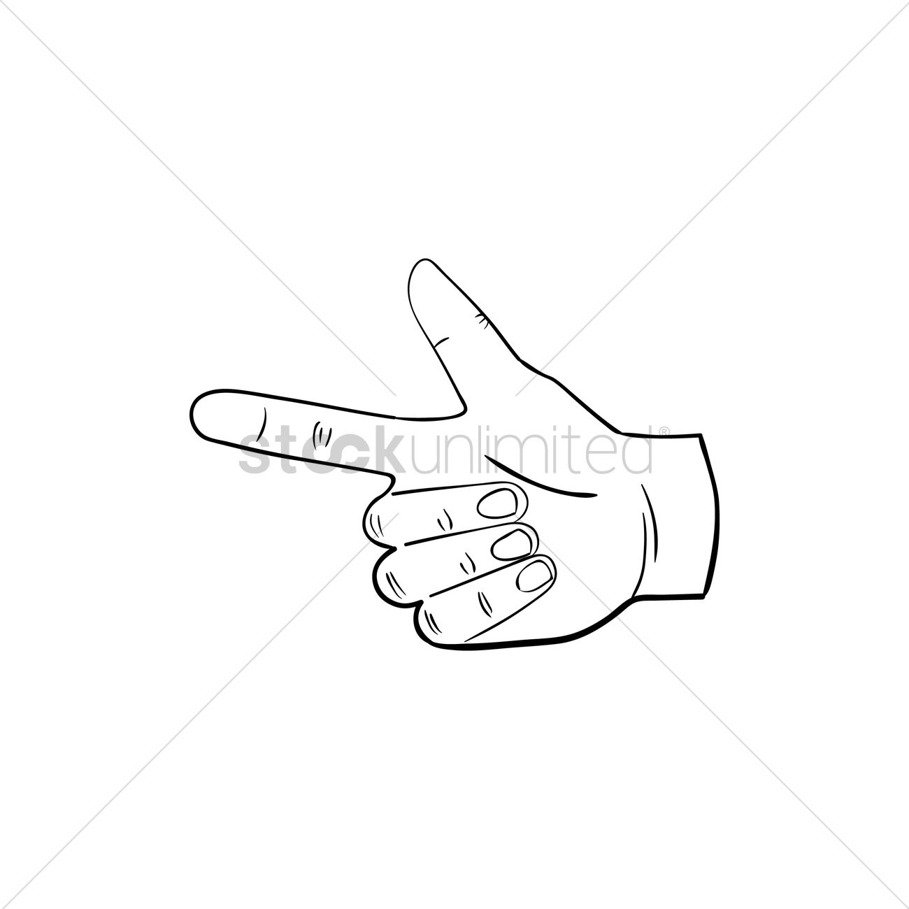 1300x1300 Pointing Finger Vector Image