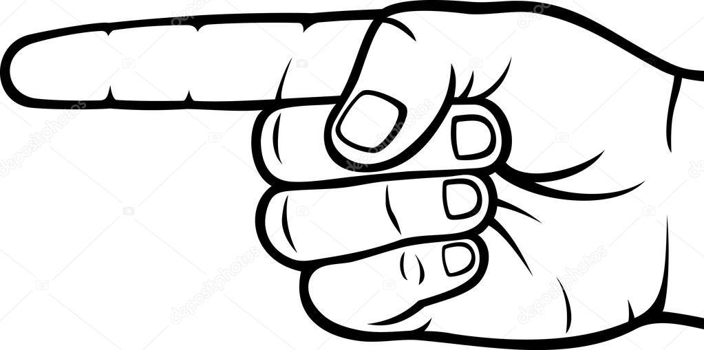 1023x509 Pointing Hand (Point Finger) Stock Vector Tribaliumivanka