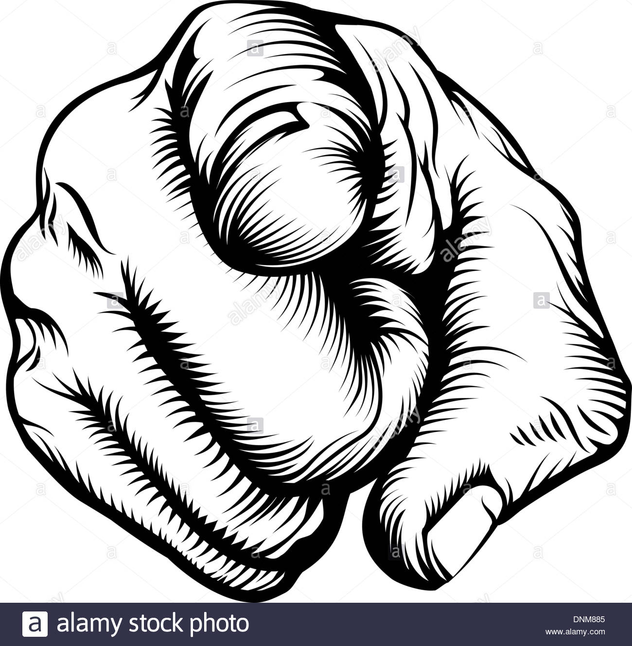 1300x1329 Retro Black Woodcut Print Style Hand Pointing Finger