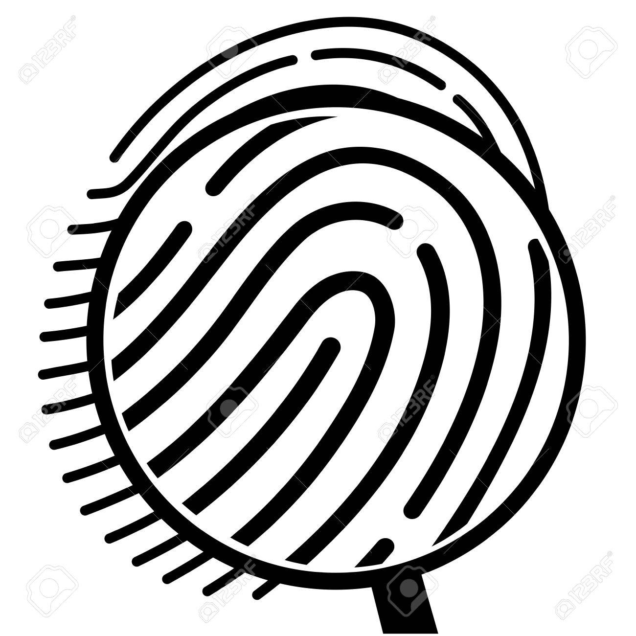 1300x1300 Fingerprint Under A Magnifying Glass Royalty Free Cliparts