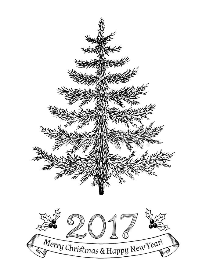 675x900 Tree New Year Drawings Merry Christmas Amp Happy New Year 2018 Quotes