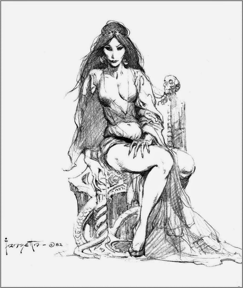 1019x1210 Cap'N's Comics Fire And Ice By Frank Frazetta Fantasy Drawings