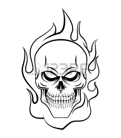 394x450 Fire Skull Stock Photos. Royalty Free Business Images