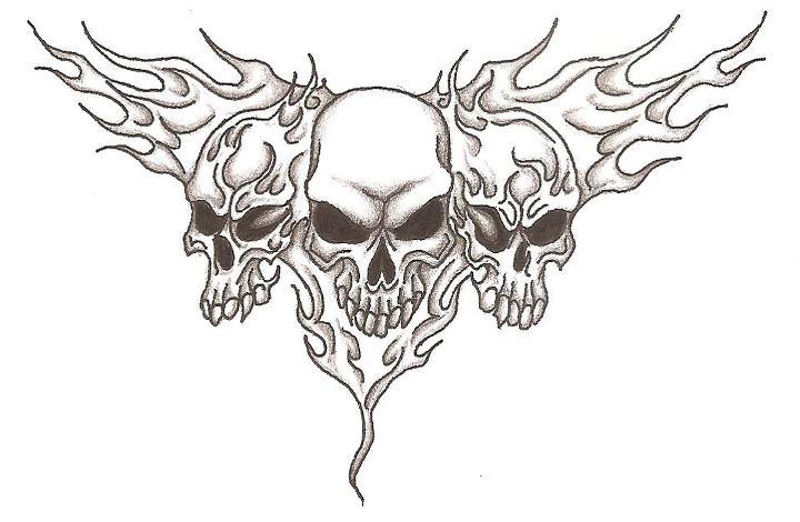 720x470 Flame Skulls I By Jamesnorton