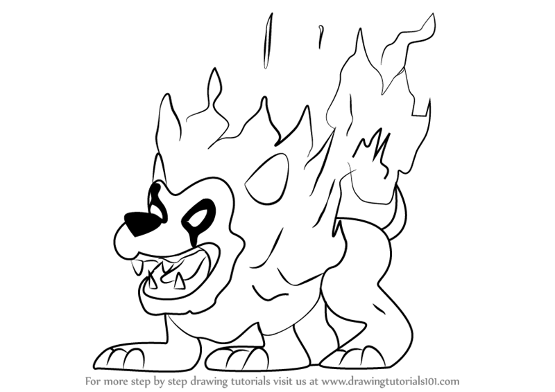800x566 Learn How To Draw Fire Lion From Kirby (Kirby) Step By Step