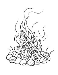 202x261 Camp Fire Drawing Art Drawings Know How Fire
